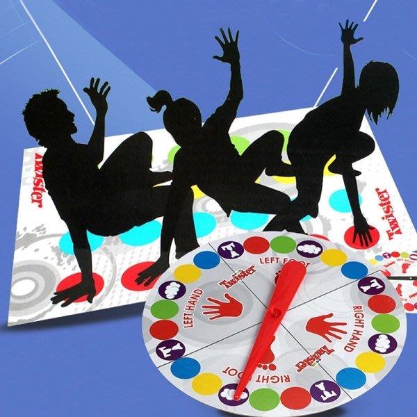 新版twister身體扭扭樂玩具互動歡樂聚會親子遊戲地墊      哆啦の魔法口袋4349