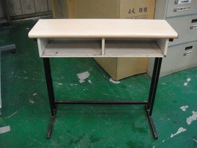 二手家具宏品 台中全新中古傢俱 E501*木紋課桌椅 補習班桌椅 書桌椅 大學椅 兒童書桌椅*2手桌椅拍賣 餐桌椅