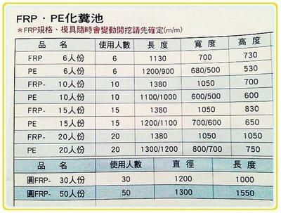 化糞池  20人份 FRP.PE  優惠價 8500元 .(中興水塔)~水電材料.美康生活館