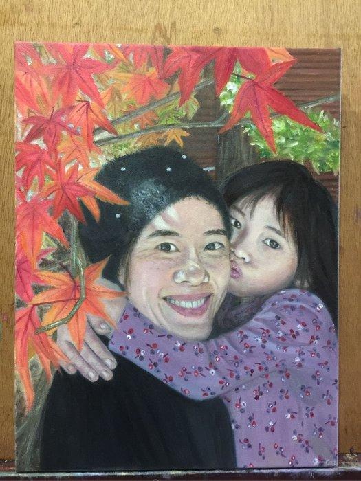 Cat's Portraits 人物畫像 人物家庭兒童客製化油畫 無框 Custom oil painting
