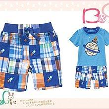 【B& G童裝】正品美國進口GYMBOREE 火箭圖樣格子拼布短褲3yrs