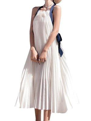日和生活館 洋裙普吉島沙灘裙露背波西米亞長裙海邊度假輕熟超仙泰國吊帶連衣裙夏S686