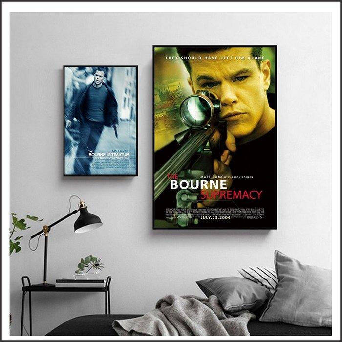 日本製畫布 電影海報 神鬼認證 The Bourne Identity 掛畫 嵌框畫 @Movie PoP #