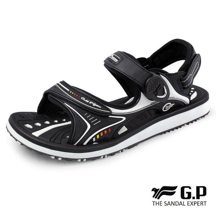鞋鞋樂園-超取免運-GP-吉比-阿亮代言-高彈力舒適涼拖鞋-兩用鞋-磁扣設計-穿脫方便-GP涼鞋-G8666BW-10