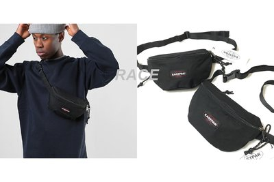 【RACE】EASTPAK SPRINGER 側背包 腰包 小包 斜背 LOGO 素色 經典 基本款 男女 黑