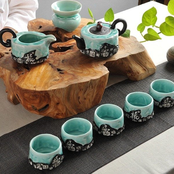5Cgo【茗道】預售 40832075375 琺瑯彩青花瓷御瓷祥福整套茶具功夫茶道 茶壺茶海公杯 茶漏品茗杯