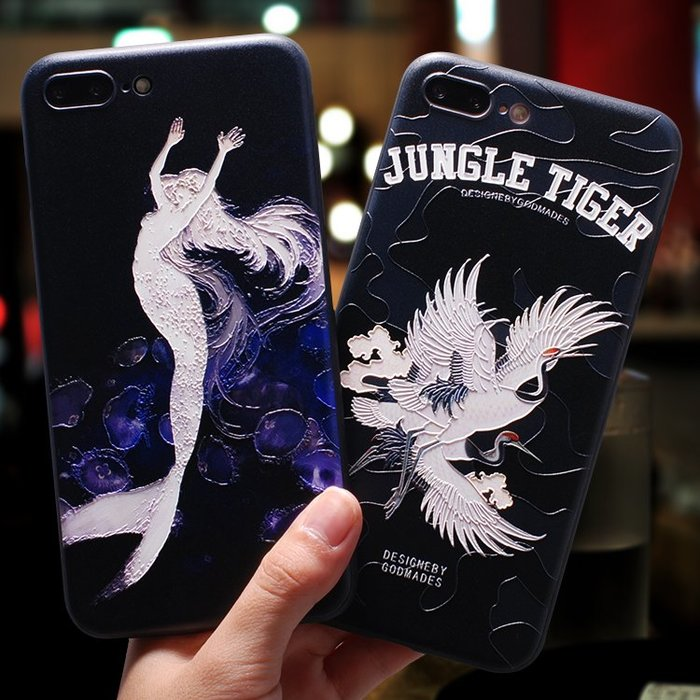 伊~格調 蘋果7plus手機殼iphone8plus韓國潮男女款6s軟硅膠全包防摔掛繩套