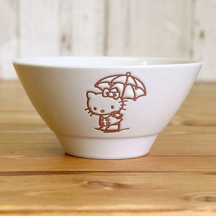 4165本通 凱蒂貓 日本製 陶瓷碗 (白) 4979855207109 下標前請詢問