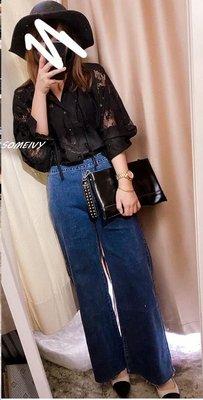 ♥ Someivy ♥ 韓 側拉鍊 牛仔小直筒寬褲