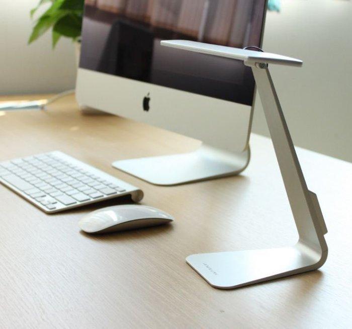 【現貨】銀色超薄科技LED檯燈 USB充電 台燈 落地燈 立燈 檯燈