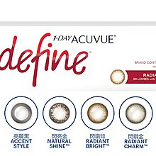 Acuvue Define contact lenses 彩色隱形眼鏡