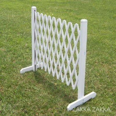白色伸縮圍籬 小號 圍欄木柵欄圍欄籬笆 鄉村風圍籬 庭園花園陽台園藝造景裝飾佈置♡幸福底家♡