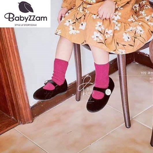 『※妳好,可愛※』妳好可愛韓國童鞋 BABYZZAM~正韓  歐風水鑽寶石娃娃鞋