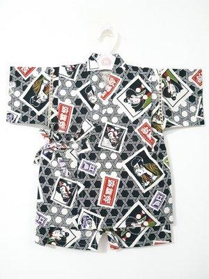 ✪胖達屋日貨✪褲款 120cm 黑底 籠目紋 江戶 歌舞伎 日本 女 寶寶 兒童 和服 浴衣 甚平 抓周 收涎 攝影