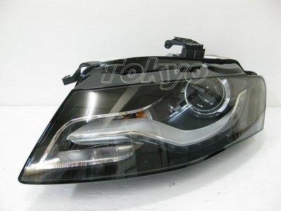 @Tokyo東京車燈部品@AUDI A4 2008~2012 B8 原廠型LED燈眉魚眼大燈 原廠HID可移植