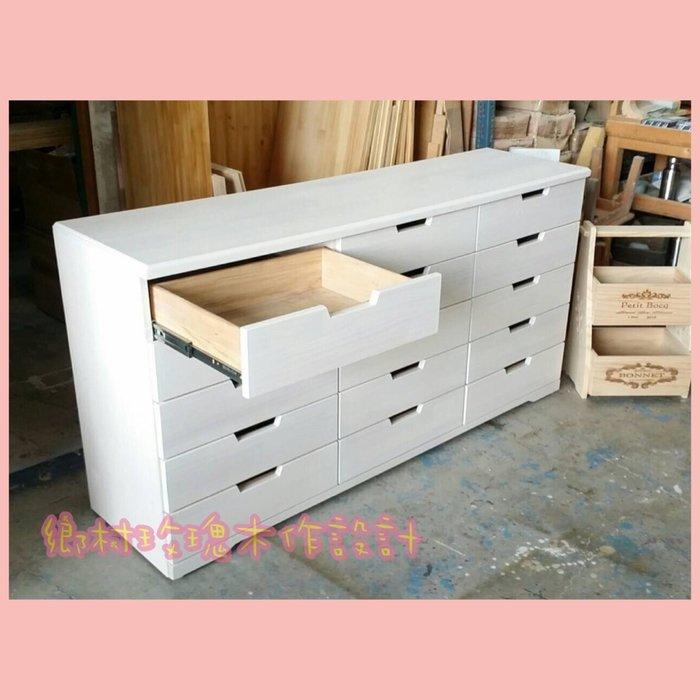 白色多抽式收納櫃 [鄉村玫瑰] - 裝潢設計 鄉村家具 家具訂做 木工裝潢