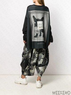 【WEEKEND】 BARBARA BOLOGNA 寬鬆 長袖 背後印圖 上衣 黑色 19秋冬