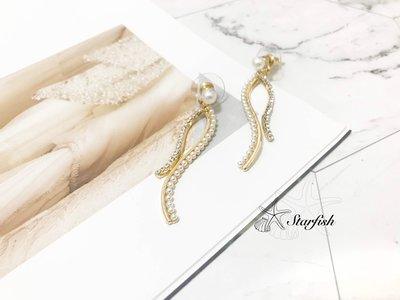 【海星 Starfish】|925銀針|韓風多層次異材質流蘇耳環