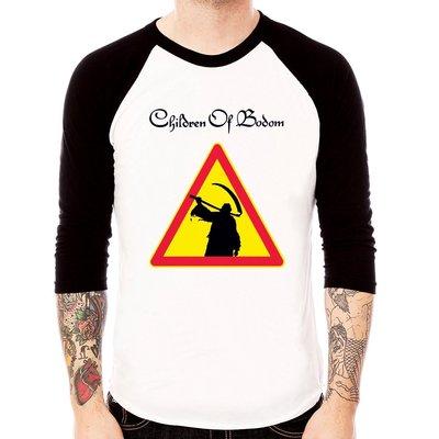 Children Of Bodom-Reaper七分袖T恤-白/黑色 死神之子COB死金樂團t-shirt 390