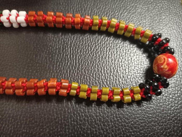 手編珠串 紅繩 轉運珠 天然種子 手工文創 設計