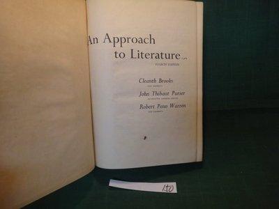 【愛悅二手書坊 10-59】An Approach to Literature 雙葉書店
