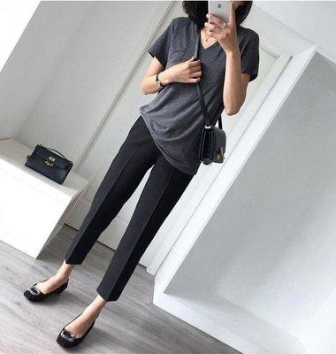 黑色西裝褲女韓版直筒女褲九分褲休閒褲哈倫褲小腳煙管褲工裝西褲