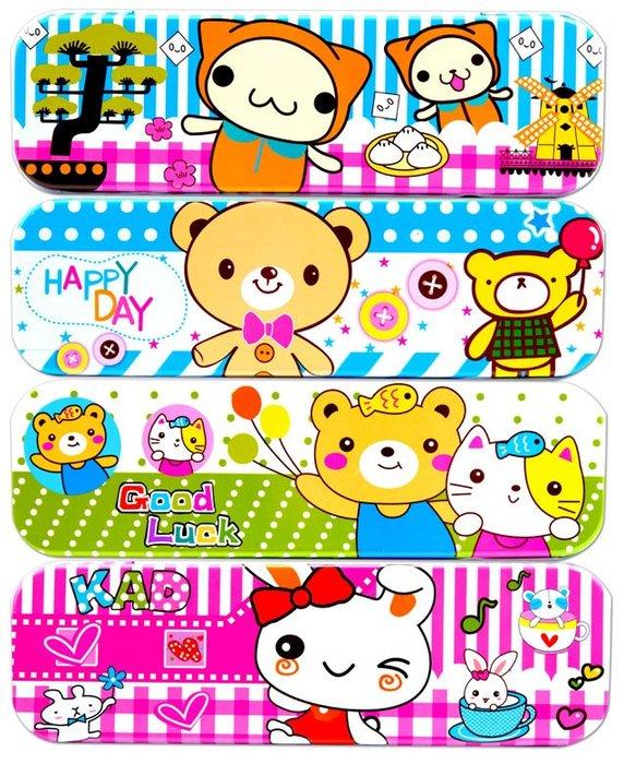 動物派對(雙層/鐵)鉛筆盒 鉛筆盒 熊熊 學生 動物 卡通 筆盒 禮物 文具批發【miniD】[704935001]