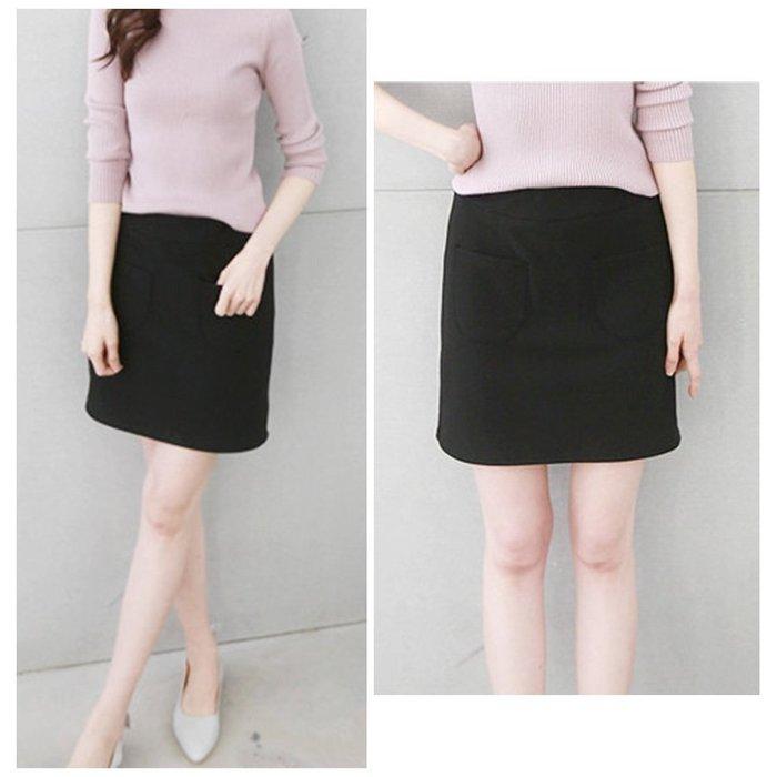 【Hao Da】全館399免運↘「M~XL。現貨」超厚彈力刷毛 合身短裙  (P1052)