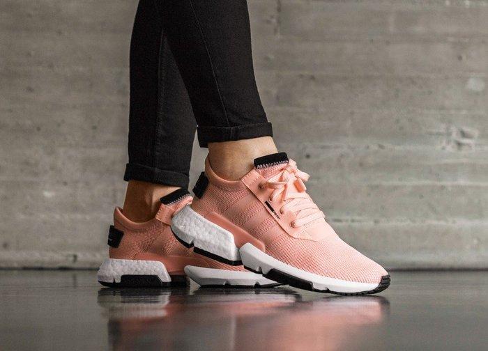 [Roen羅恩代購] Adidas Originals POD-S3.1 Boost 輕量女慢跑鞋 橘粉