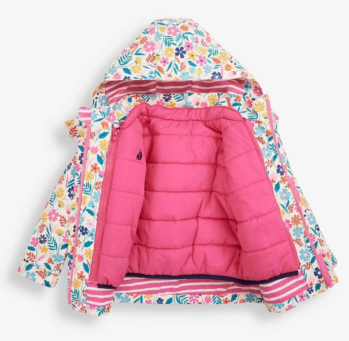 3合1外套-粉色小花 防風防水保暖外套/JoJo Maman Bebe【兔寶寶部屋】