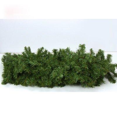 2.7米綠色聖誕藤條加密 聖誕節商場裝飾品聖誕花環藤條掛飾門飾