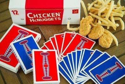 【天天魔法】【S627】正宗原廠~(紅)雞塊牌~Chicken Nugget Playing Cards~簡子