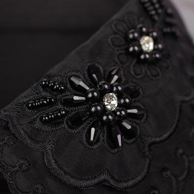 假領子 襯衫 領片-黑色雪紡鑲鑽刺繡女裝配件73va9[獨家進口][米蘭精品]