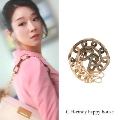 C.H.-cindy happy house 韓國JOY 品牌(雖然是精神病但沒關係)徐睿知肩帶 200709-3代購