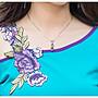 2017夏裝新款 民族風 T恤短袖 繡花 露肩女上衣 百搭圓領拼接T恤 顯瘦款