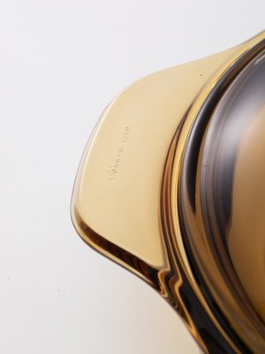 北歐風琥珀玻璃鍋家用平底雙耳湯鍋海鮮鍋耐高溫透明湯鍋帶蓋