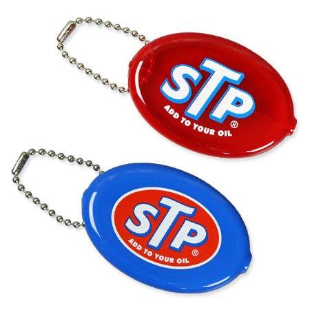 (I LOVE 樂多) 日本進口 美國經典賽車機油品牌 STP 橢圓零錢包 送人自用兩相宜