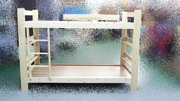 樂居二手家具館 全新中古傢俱賣場 零碼傢俱拍賣 E06*全新3.5尺雙層床*松木上下鋪*實木雙人組合床架*床板