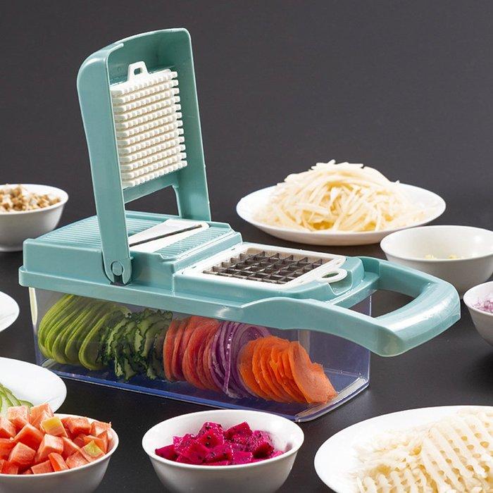廚房用品多功能切壓丁切條濾蛋清馬鈴薯絲手壓切菜器D191