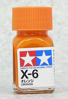 【TAMIYA X-6】油性 模型專用漆 10ml 橘色