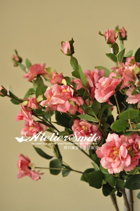 [ Atelier Smile ] 鄉村雜貨 小花園系列 仿真長枝冰山玫瑰 裝飾果樹 仿真植物 (現+預)