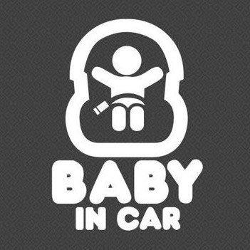 【SPSP】BABY IN CAR 嬰兒車 DIY 車貼 汽車貼紙/機車貼紙/反光標誌/警告標語/反光貼紙/個性貼紙