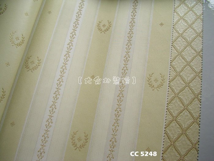 【大台北裝潢】CC義大利進口壁紙* 質感仿布紋 搭配直條圖騰(3色) 每支2500元