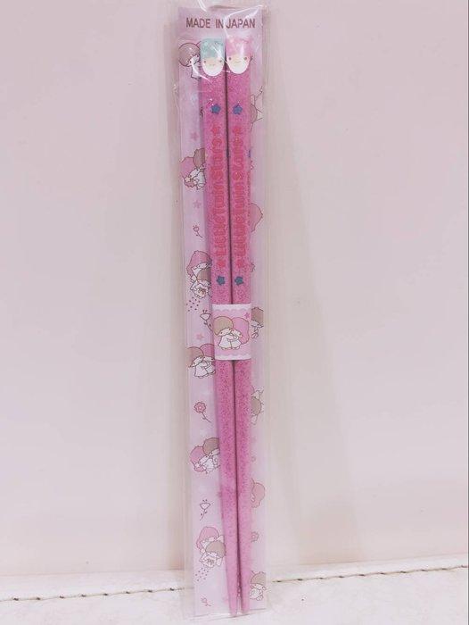 《東京家族》粉-閃亮 雙子星 扁頭木筷 筷子