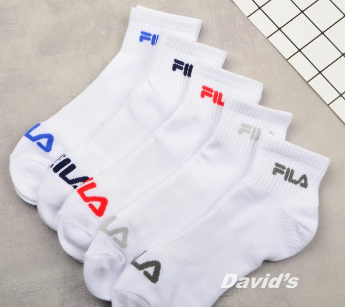 FILA 襪子 短襪 休閒襪 運動襪 多色 男 現貨【43FL239719TA】美國大衛