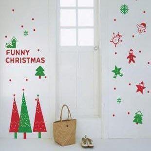 小妮子的家@聖誕節禮物壁貼/牆貼/玻璃貼/磁磚貼/汽車貼/家具貼