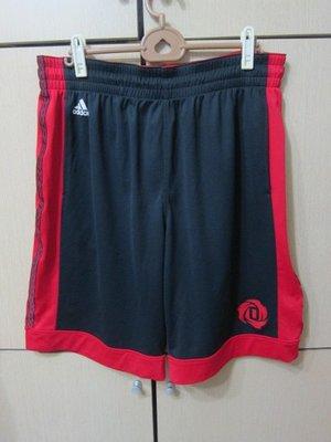 衣市藍~adidas Rose 運動短褲 (2XL~黑/ 紅邊~腰鬆緊帶鬆~六成新~) (200527) 桃園市