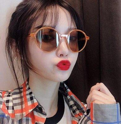 太陽眼鏡 素顔大框木紋圓框墨鏡 韓版潮 太陽鏡 女大臉眼鏡圓臉—莎芭