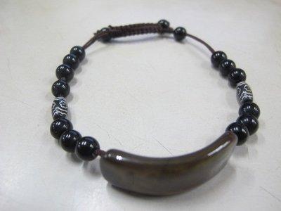二手舖 NO.3209 天然瑪瑙玉石手鍊 手環 手珠 首飾飾品