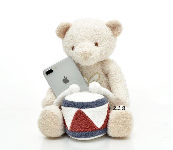 F218動物樂隊系列 小熊打鼓玩偶  公仔 安撫玩偶$690Gelato pique
